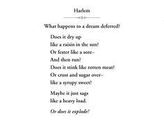 Langston Hughes – Dreams   Language, Jazz and Langston hughes