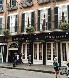 Court of the Two Sisters Restaurant in the New Orleans French Quarter