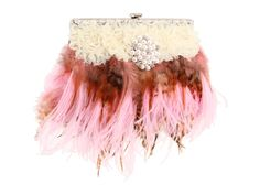Perfect for that Summer Wedding! Inspired by Claire Jane Plummage Feather Purse at Zappos.com