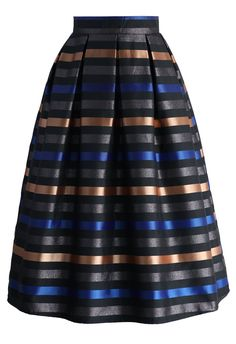 Cheer Moments Striped Midi Skirt - New Arrivals - Retro, Indie and Unique Fashion