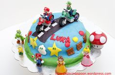 boys birthday cakes images | Day one was making chocolate cake with semi sweet chocolate frosting ...