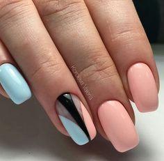 Beautiful nails 2017, Gentle summer nails, Marine nails, Nails ideas 2017, Pink and blue nails, Summer nails 2017, Summer nails to the sea, Vacation nails
