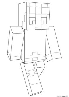 print minecraft dantdm coloring pages