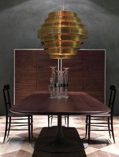 GOLD FURNITURE| Pendant lamp GUGGIE by BAXTER design Angela Ardisson  | bocadolobo.com/ #luxuryfurniture #designfurniture