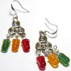 Items similar to Wearable Technology Earrings electronic Earrings LED Electronic Earrings Yellow Green Red Diodes Sterling Silver fathers day gift from son on Etsy Nerd Jewelry, Diy Jewelry, Handmade Jewelry, Jewelry Making, Green Gifts, Recycled Jewelry, Wearable Technology, Electronic Art, Fathers Day Gifts