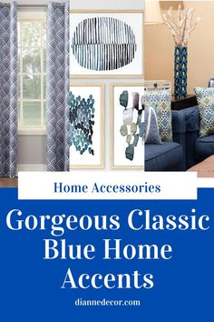"Classic Blue is the new Pantone ""Color of the Year"" for 2020. Here's the best from Target's new collection of classic blue home decor. #classicblue #bluedecor #bluehomeaccents #blueaccessories #bluehomeaccessories #homeaccents #homeaccessories #classicbluedecor #coloroftheyear Living Room Mirrors, Living Room Sets, Rugs In Living Room, Living Room Chairs, Living Room Decor, Wall Mirrors, Blue Home Decor, Elegant Home Decor, Living Room Accessories"