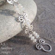 Wire Jewelry Tutorial HAMMERED SWIRLLINK BRACELET Step by