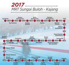 ◤MRT 所有站7月开跑啦!!!◢ Sg Buluh – Kajang 31站全部开通! 下次可以plan下搭MRT走街啦^^(内附新站List) | Rojaklah