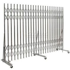 metal security gates offer employee safety measures ventilation and visibility for warehouse. Black Bedroom Furniture Sets. Home Design Ideas