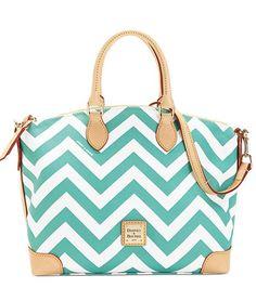 I LOVE this bag.Dooney & Bourke Seafoam Chevron Satchel