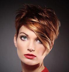 rote Pixie kurze Haare Modelle