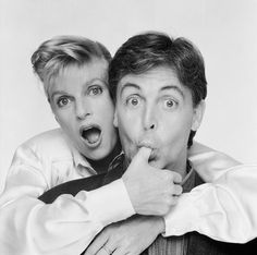 """Terry O'Neill   Paul McCartney And His Wife Linda Singer Paul McCartney jokily posing with his wife Linda's thumb in his mouth during a publicity session for their film 'Give My Regards To Broad Street', 1984.  Limited Edition Silver Gelatin Signed and Numbered  16"""" x 16"""" / 20"""" x 20""""  24"""" x 24"""" / 30"""" x 30""""  40"""" x 40"""" / 48"""" x 48""""  60"""" x 60"""" / 72"""" x 72""""  For questions or prices please contact us at info@igifa.com"""