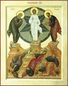 The Transfiguration - August The Feast Of The Transfiguration Of Our Lord, God, And Savior Jesus Christ The Transfiguration, Images Of Mary, Jesus Stories, Catholic Art, Roman Catholic, Religious Icons, Orthodox Icons, Sacred Art, Pictures To Draw