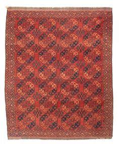 VAN-HAM Kunstauktionen Ersari. Main-carpet. Early 20th Century. 321 x 262cm.