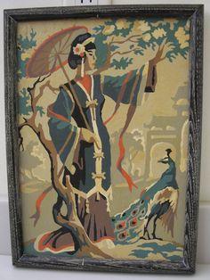 Vintage Paint By Numbers Mid Century Estate by MelodiesAndMemories