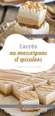 Carrés au mascarpone et spéculoos #Carrés #mascarpone #spéculoos
