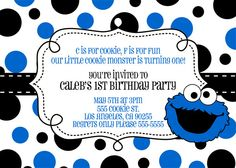 Personalized Digital Confirmation Invitation Monster invitations