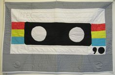 Cassette Tape Quilt - Baby Quilt or Wallhanging