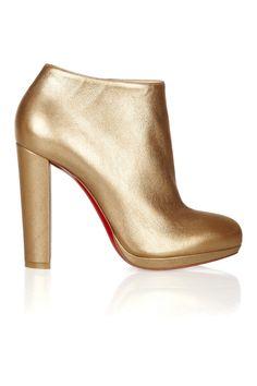 Christian LouboutinRock   Gold 120 metallic leather ankle boots Ankle Boots  Douradas, Botas Até Tornozelo bf6acde099