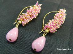 Bindurekha / Pink Ghungroo Earrings  www.facebook.com/bindurekha.in