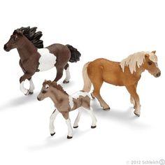 Schleich Icelandic Ponies Stallion, Mare & Foal