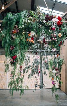HANGING CENTREPIECES | hanging floral chandelier