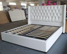 Suave genuino/cuero sintético muebles de cama tela de cabecera Europea estilo de doble marco(China (Mainland))