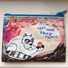 """""""Need More Shiny Things."""" Holds Gift Cards. New """"Need More Shiny Things.""""  Coin Purse~The System for carrying your stuff~Zipper Top~3 x 4~Great to give gift cards in. Accessories Key & Card Holders"""