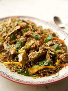 Get Teriyaki Chicken with Sesame Noodles Recipe from Food Network