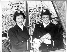 Butler sisters at ship christening, 1943 - The Betty H. Carter Women Veterans Historical Project - University Archives - University Libraries-UNCG