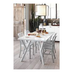 Another white dining table
