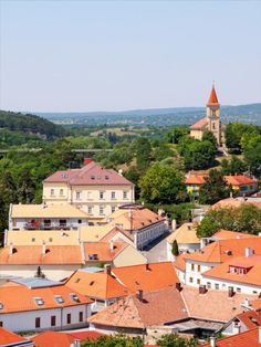 This under-the-radar Hungarian city has a fairy-tale feel, thanks to its history-packed streets and stony hilltop castle. Shades Of Grey, Hungary, Old Houses, Paris Skyline, Fairy Tales, Cities, Castle, Europe, Fine Art