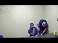 Murder suspect tries to snatch cop's gun inside interview room