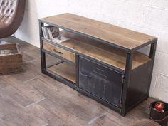 Meuble tv industriel bois métal sur mesure
