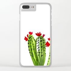 Buy Cactus Clear iPhone Case by annanikoart. Worldwide shipping available at Society6.com. Just one of millions of high quality products available.