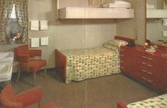 SS United States cabin