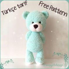 Watch This Video Incredible Crochet a Bear Ideas. Cutest Crochet a Bear Ideas. Amigurumi Giraffe, Amigurumi Free, Amigurumi Toys, Crochet Patterns Amigurumi, Baby Knitting Patterns, Crochet Dolls, Bear Patterns, Knitting Toys, Crochet Teddy