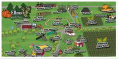 For acres of family-friendly fall things to do in Saratoga NY, visit Ellms Family Farm. Enjoy pick-your-own pumpkins, corn mazes, cider donuts & activities. Jump Park, Pick Your Own Pumpkins, House Slide, Tourist Map, Corn Maze, Autumn Activities, Organic Farming, Day Trips, Friends Family