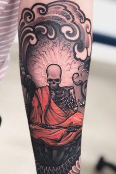 Dragon Tattoo Forearm, Forearm Tattoo Design, Forearm Tattoos, Alien Tattoo, Skull Tattoos, Sleeve Tattoos, Horror Tattoos, Traditional Tattoo Forearm, Traditional Tattoo Design