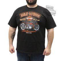 eea545fe93 Harley-Davidson Mens Tee Shirt - Enthusiast H-D Since 1903 Black Sleeve T- Shirt