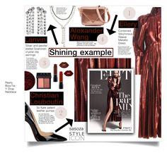 """Shining example by Sasoza"" by sasooza ❤ liked on Polyvore featuring Christian Louboutin, E L L E R Y, Lanvin, Deborah Lippmann, MAC Cosmetics, NARS Cosmetics, Lime Crime and Alexander Wang"