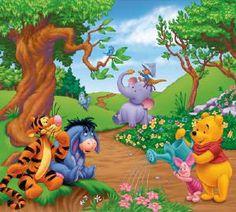 Disney Winnie The Pooh Self Stick Mini Wall Mural - Wall Sticker Outlet