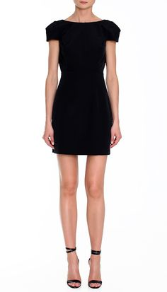 Cute black short dress.  #lbd perfection.  Love the cap sleeves. http://cococozy.com