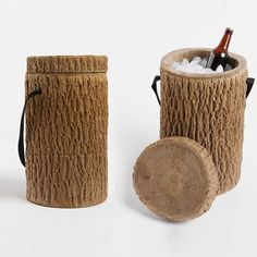 Luved by dan ashbach: Log coolers for the outdoorsman.