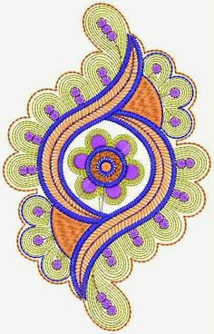 Floral Patch Designs For Spring Dresses Embroidery Works, Shirt Embroidery, Hand Embroidery Stitches, Hand Embroidery Designs, Embroidery Patterns, Boarder Designs, Stencil Designs, Rakhi Design, Floral Patches