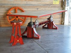 A Frame stool and Bronx table, by Vintage Industrial in Phoenix...