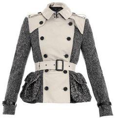 How to Wear a Peplum Jacket Courtesy of Burberry Prorsum
