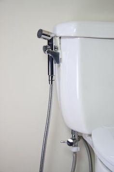 Image of Brondell CleanSpa Hand Held Bidet Sprayer Handicap Bathroom, Zen Bathroom, Bathroom Bidet, Tina Grande, Toilet Pictures, Metal Hose, Home Repair, Toilet Paper, Home Improvement