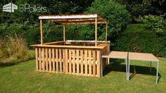 Outdoor Pallet Bar DIY Pallet Bars