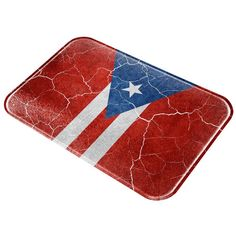 Distressed Vintage Puerto Rican Flag All Over Glass Cutting Board